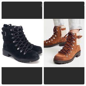 Sam Edelman Tenlee Lug Hiker Boots Sz 7